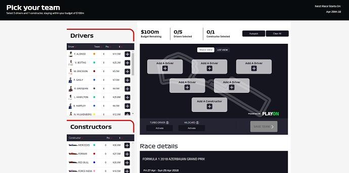 F1 Fantasy estará disponible desde Baku