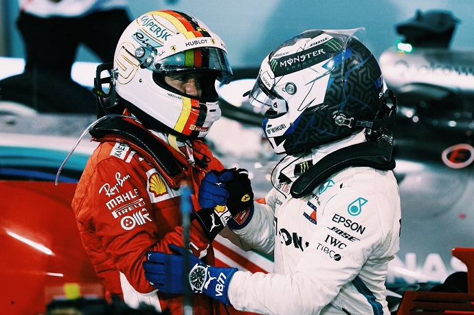 Hamilton y Bottas logran podio tras un domingo impecable