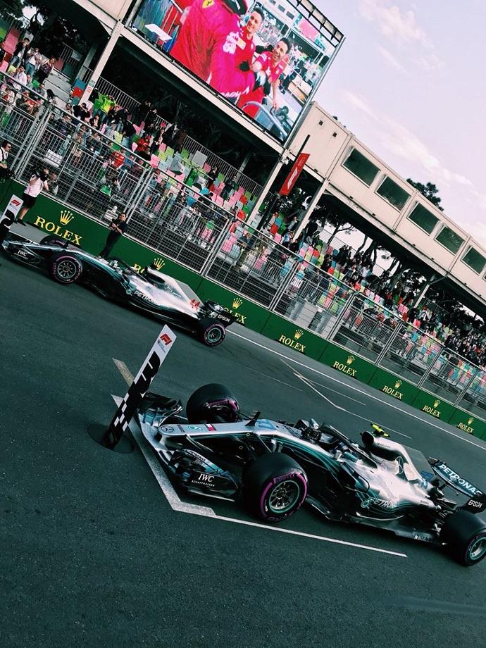 Hamilton y Bottas saldrán en Baku tras la estela de Vettel