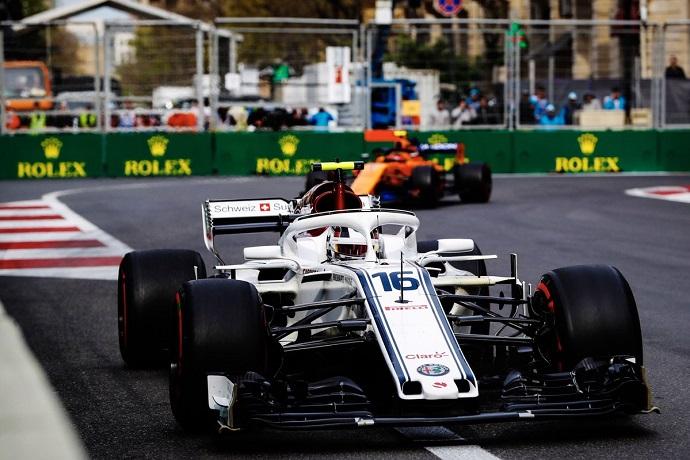 Sexta posición de Leclerc en el Gran Premio de Azerbaiyán