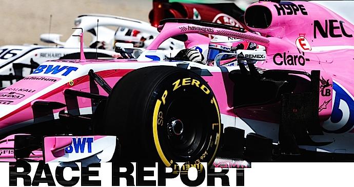 Blanco y negro para el equipo rosa en el GP de España