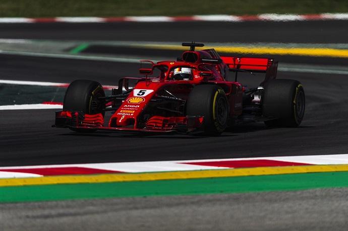 Ferrari lejos de rendir en Barcelona con Vettel cuarto y Raikkonen retirado