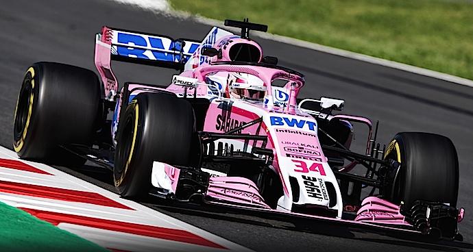 Latifi debuta con el VJM11 de Force India y termina P5 en 1er día de pruebas en Montmeló