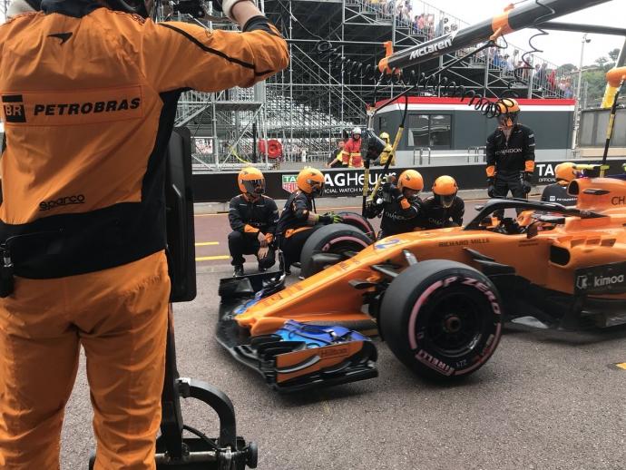 Domingo en Mónaco-McLaren: Vuelven a las andadas