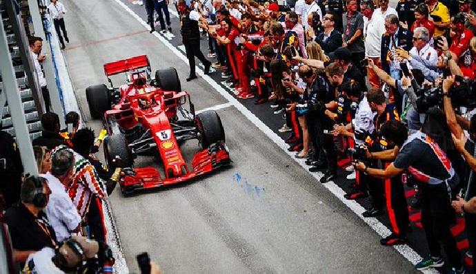 Domingo en Canadá-Ferrari: Vettel da un golpe sobre la mesa