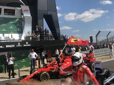 Domingo en Gran Bretaña-Ferrari.: Vettel conquista la casa de Hamilton