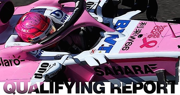 Sabado en Gran Bretaña - Force India con una pantera rosa adentro y otra afuera de Q3
