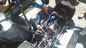 Detalle del sistema de propulsión del monoplaza eléctrico.