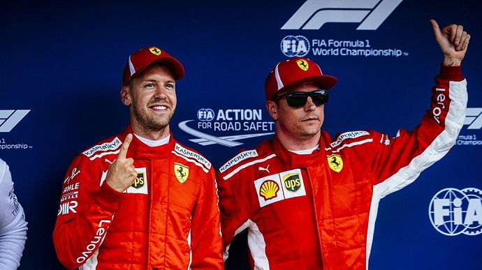Sábado en Alemania-Ferrari: Genial pole de Vettel en su tierra; Kimi 3º