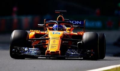 Alonso llega con lo justo a Monza en su McLaren