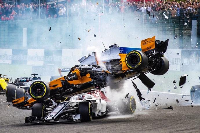 Sanción a Hülkenberg por el accidente con Alonso y Leclerc