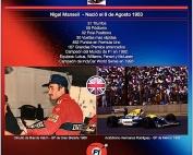 Un día como hoy en 1953 nació Nigel Mansell, Campeón de F1 en 1992