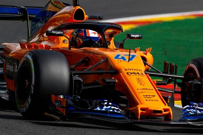 viernes en belgica - McLaren: Norris debuta en una McLaren lenta y errática