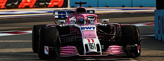 Viernes en Singapur - Racing Point Force India prueba evoluciones aero en Marina Bay