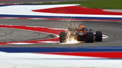 """Sábado en Austin - Ricciardo cumple y Verstappen se topa con el """"Verstopper""""."""