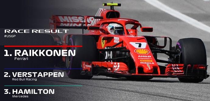 CRÓNICA: Hamilton tendrá que esperar a México, Kimi vence 113 carreras después, Sainz 9º y Alonso OUT