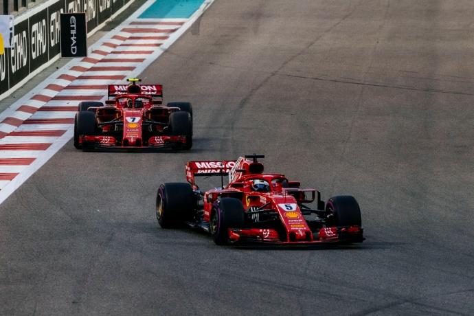 Domingo en Abu Dabi-Ferrari: Vettel acaba en el podio, Raikkonen se retira