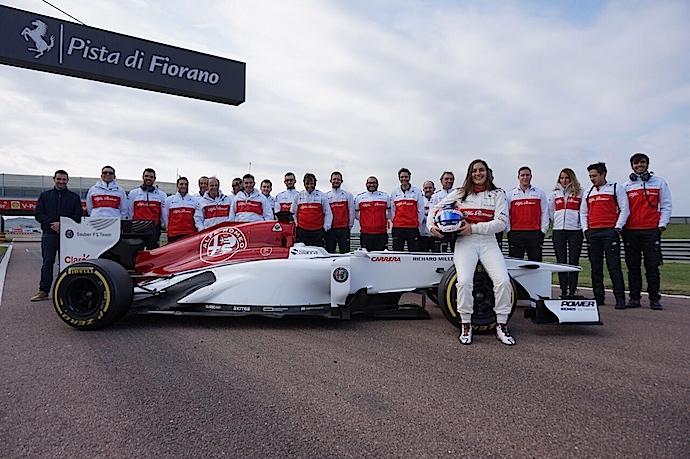 Tatiana Calderón concluyó con éxito sus pruebas de F1 en Fiorano