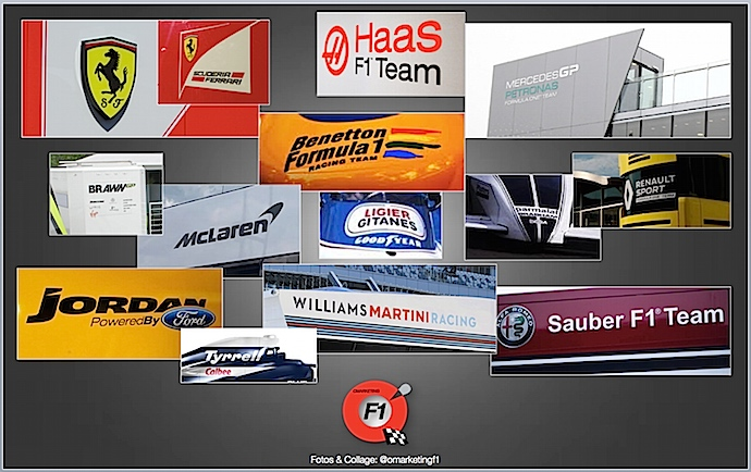Los apellidos en las escuderías de Fórmula Uno