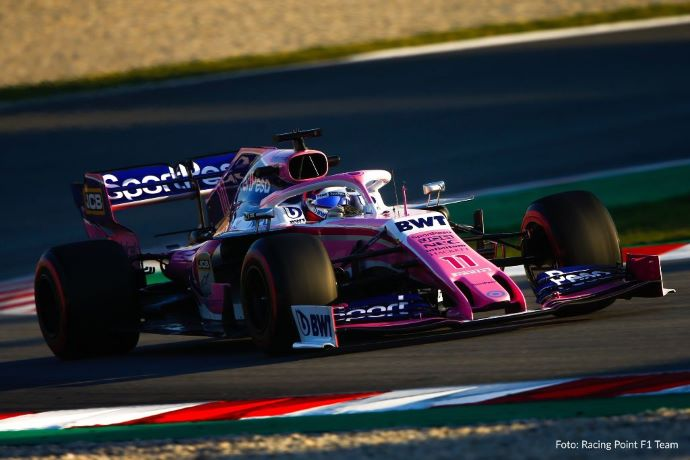 Previo: Racing Point en la alfombra rosa del GP de Australia 2019