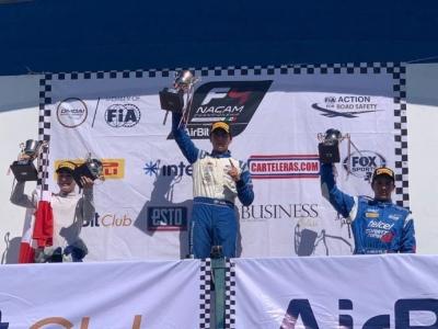 Triplete de Manuel Sulaimán, amo absoluto del GP de Monterrey en la F4 NACAM