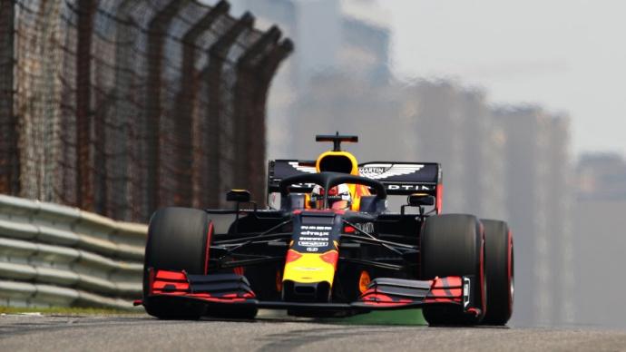Viernes en China - Red Bull: Casi un segundo entre los dos monoplazas de Milton Keynes