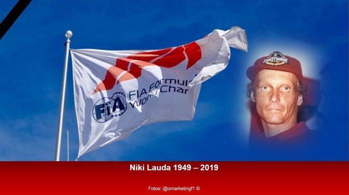1 minuto de silencio por Niki Lauda en Mónaco