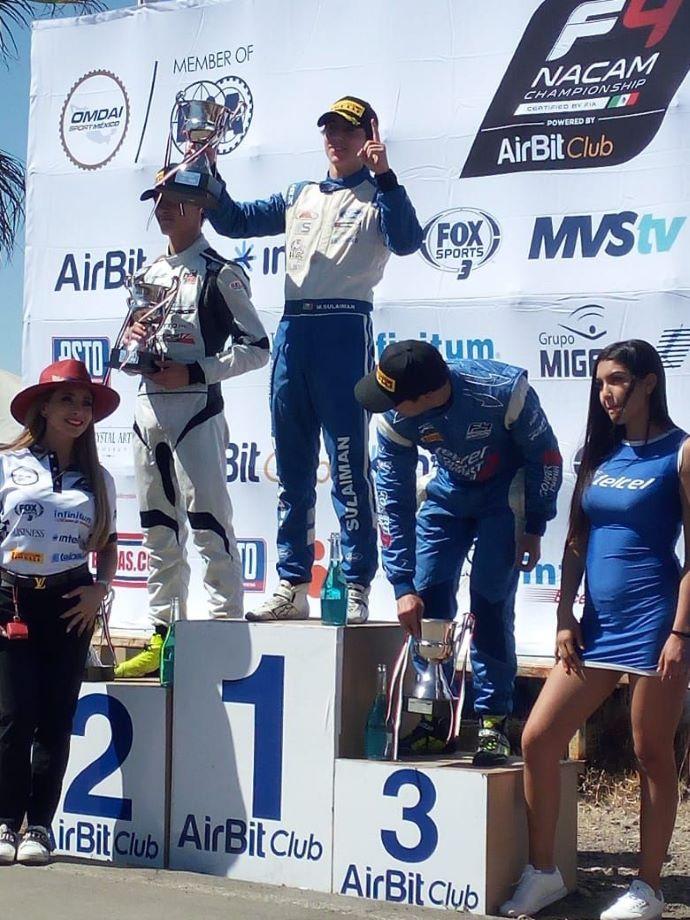 Sulaimán sigue imparable y gana todo en la FIA F4 NACAM