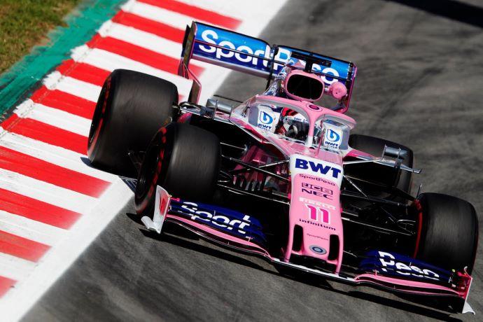 Viernes en España - Racing Point coquetea con el muro y con el fondo de la tabla