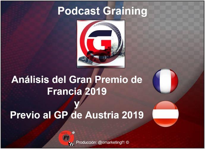 Análisis del GP de Francia y Previo al GP de Austria 2019 Podcast No. 15 de Graining