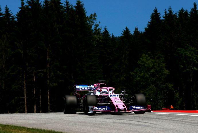 Viernes en Austria - Racing Point con 148 vueltas rosas a pesar de las banderas rojas