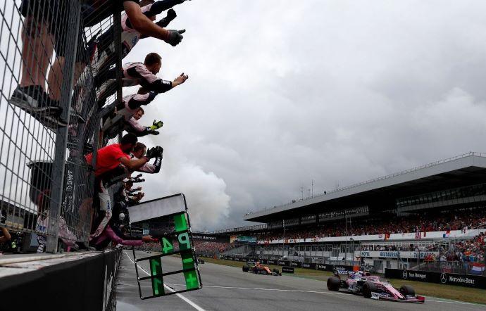 Domingo en Alemania - Racing Point y Stroll logran el mejor resultado rosa de la temporada
