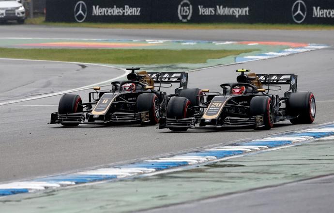 domingo en alemania haas ambos pilotos sumaron