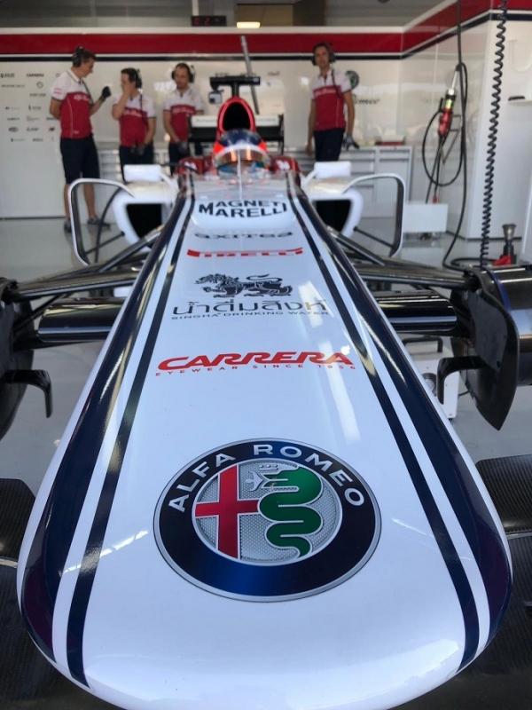 Tatiana Calderón Juan Manuel Correa satisfechos tras el test con Alfa Romeo