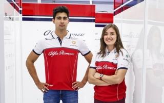 Tatiana Calderón y Juan Manuel Correa participarán en un test con Alfa Romeo en Paul Ricard
