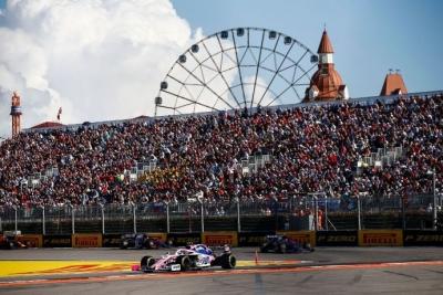 Domingo en Rusia - Racing Point cumple promesa y sale P7 y con 6 puntos color rosa mexicano de Sochi