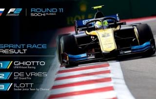 Luca Ghiotto gana la carrera corta marcada por una bandera roja después de la salida