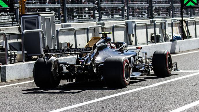domingo en japon haas otra carrera complicada