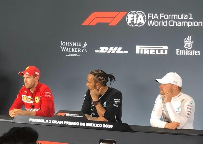 Hamilton y Vettel intercambian palabras en la rueda de prensa posterior al GP de México