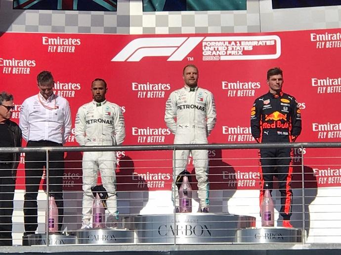 Bottas gana en el GP de Estados Unidos y Hamilton consigue su sexto mundial