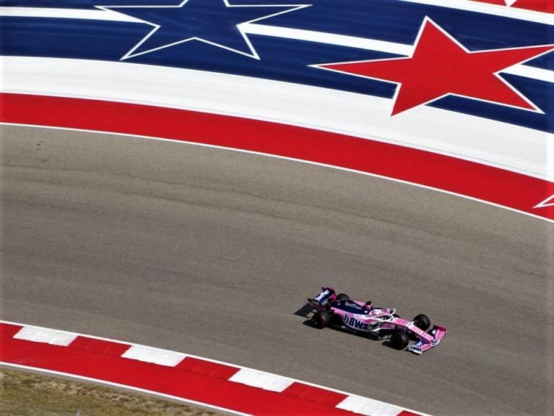 Sábado en Estados Unidos – Racing Point y Checo partirán desde los Pits y Stroll P14 en el Circuito de las Américas