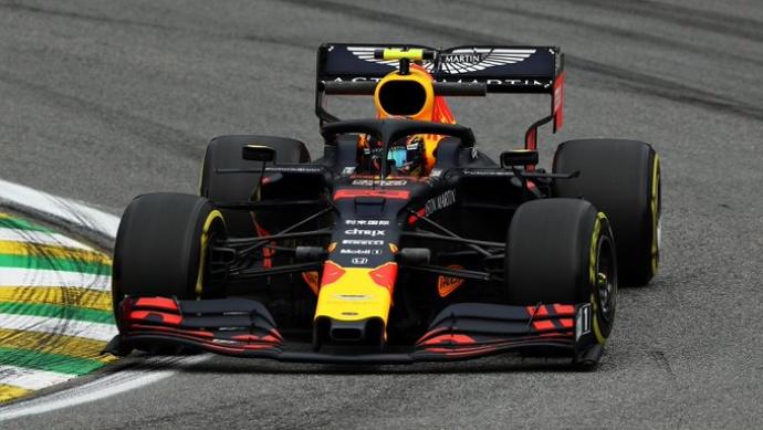 Viernes en Brasil - Red Bull: Buen inicio a pesar del accidente de Albon