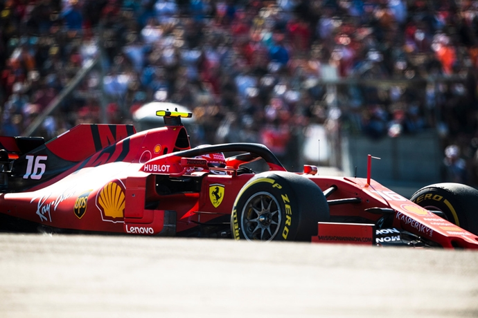 Leclerc perdió 18 caballos de potencia en el GP de los Estados Unidos con la Spec 2