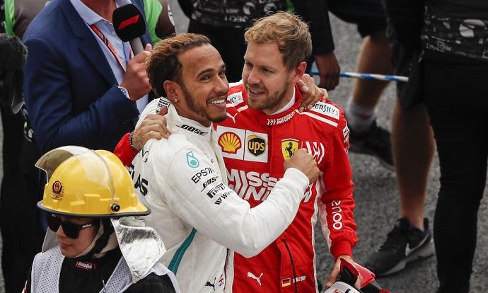 """Vettel sobre Hamilton: """"Estoy feliz por él"""""""
