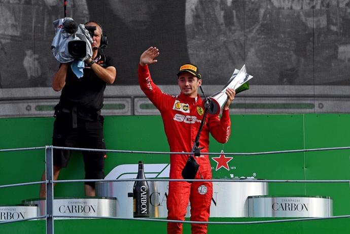 Leclerc admite que su victoria en el GP de Italia le causo nervios