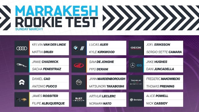 El Rookie Test de Fórmula E cuenta con todos los pilotos confirmados