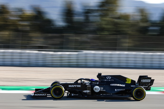 Test F1 2020: Día 5 - Renault, diluidos en la zona media