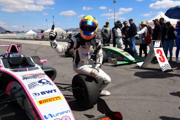 Joss Garfias, ganador absoluto en el GP de Mérida de la Fórmula 4 NACAM México