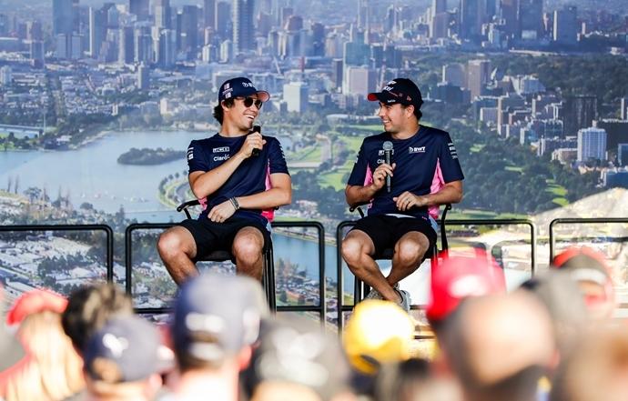 Los tres grandes están un paso por delante de Racing Point, según Pérez