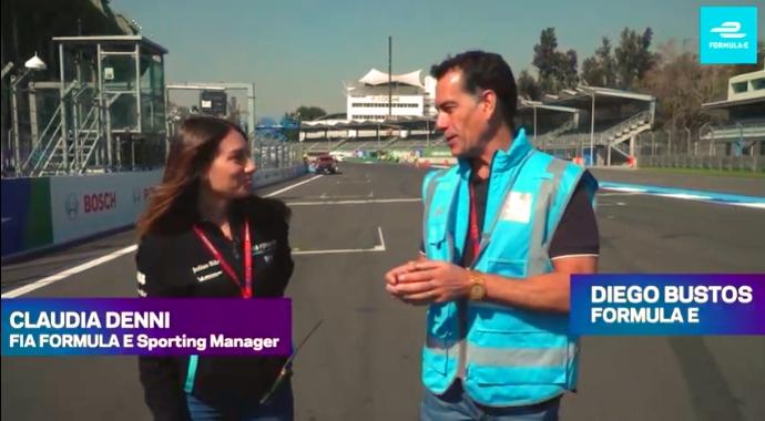 Claudia Denni, responsable de Dirección de Carrera de la Fórmula E
